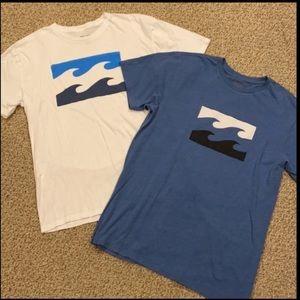 Billabong Lot Of Two Graphic Short Sleeve T-Shirts